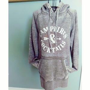 Cozy gray hoodie sweatshirt